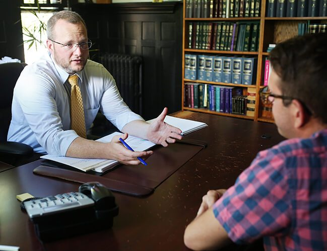 an attorney having a consultation with a client