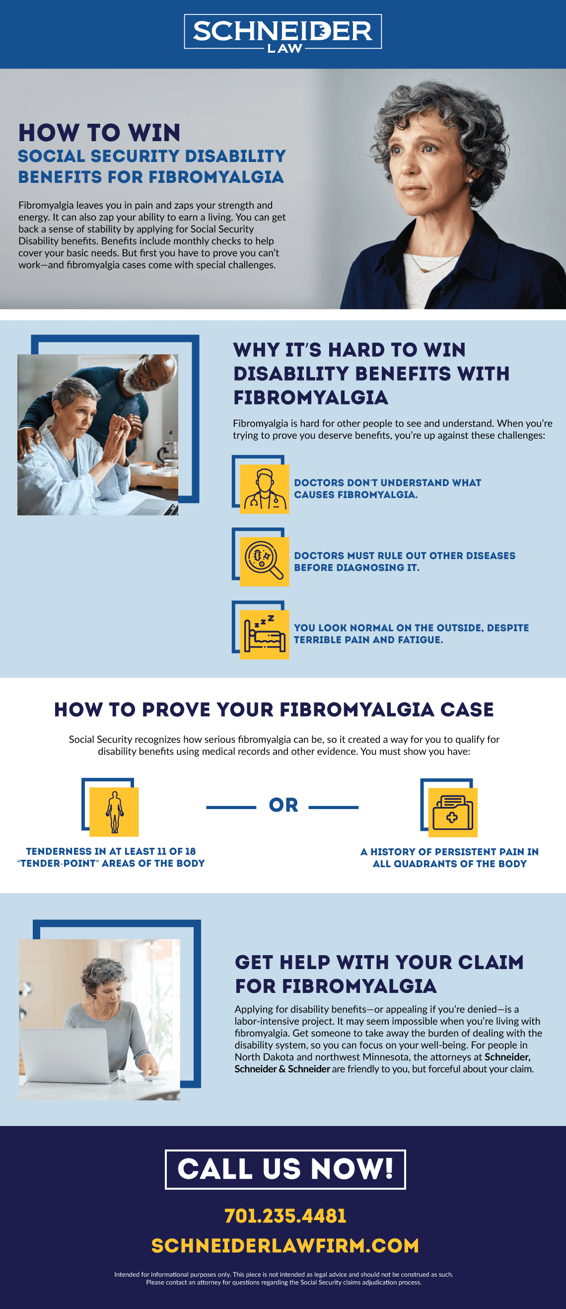 How to Win Social Security Disability Benefits for Fibromyalgia infographic